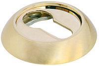 Накладка на ключевой цилиндр Morelli MH-KH SG/GP Матовое золото/золото, фото 1