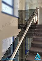 Стеклянное ограждение для лестниц, фото 1