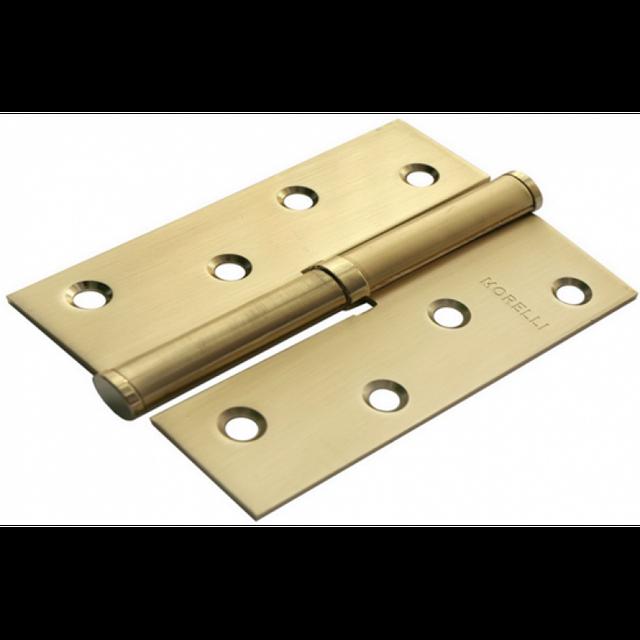 Дверная петля стальная разъёмная Morelli MSD 100X70X2.5 SG L Левая (цвет: матовое золото)