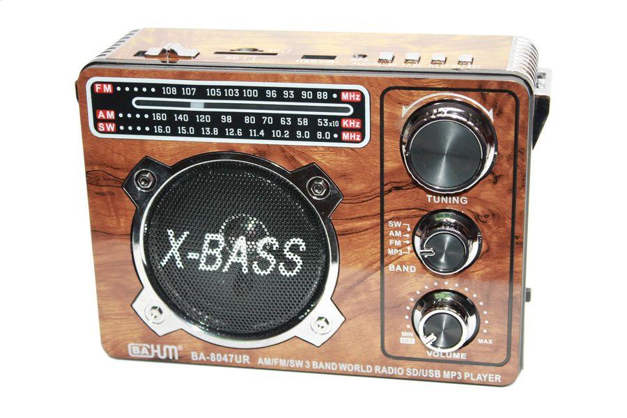 Радио 8047UR BAHM USB/SD/microSD фонарик