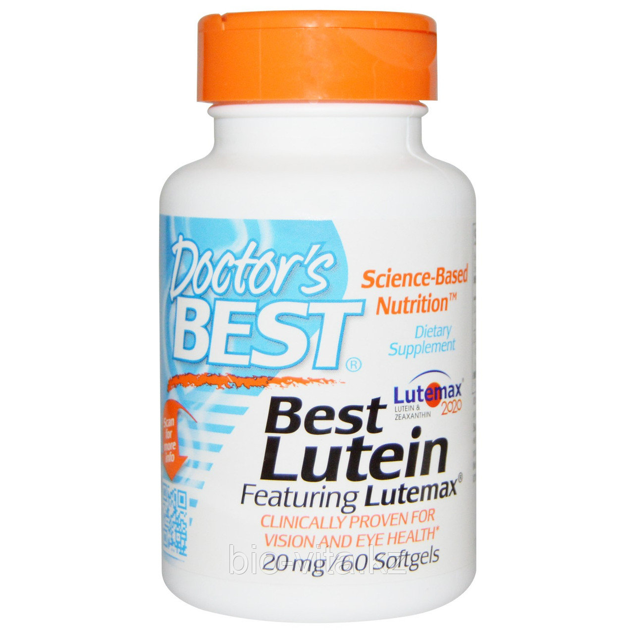 Doctor's Best, Best Lutein Лучший лютеин для здоровья глаз, 20 mg, 60 капсул