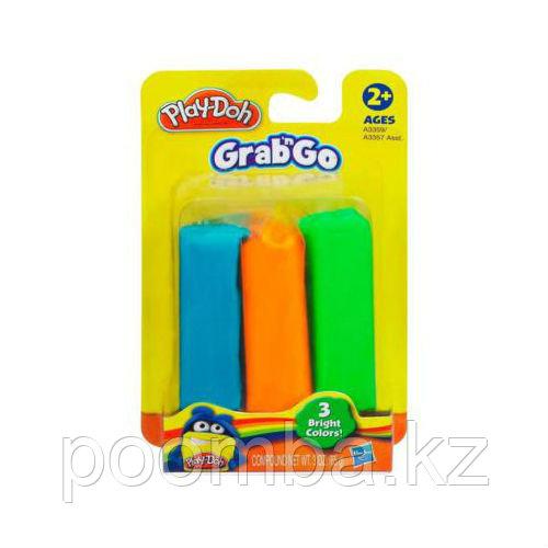 Набор пластилина Play-Doh - Grab&Go, 3 цвета