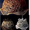 Абажур плетеный фигурный (разные цвета)
