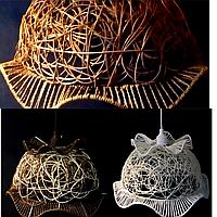 Абажур плетеный фигурный (разные цвета), фото 1