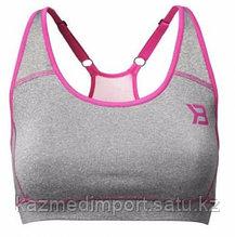 Better bodies Sports bra, топ серый с розовым S-M