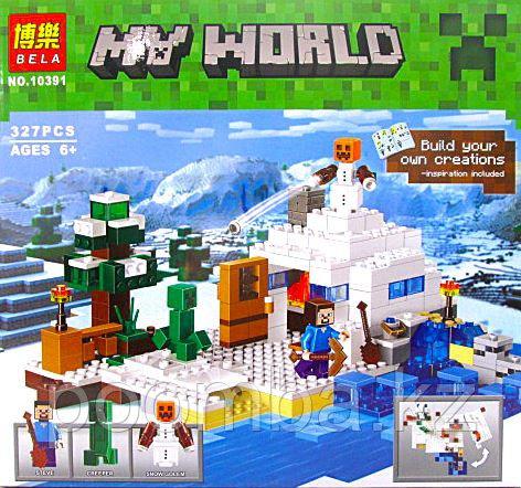 Конструктор Bela Minecraft Снежное укрытие 327 деталей