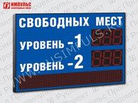 Табло парковки с бегущей строкой Импульс-127-L2xD27x3-S20x64