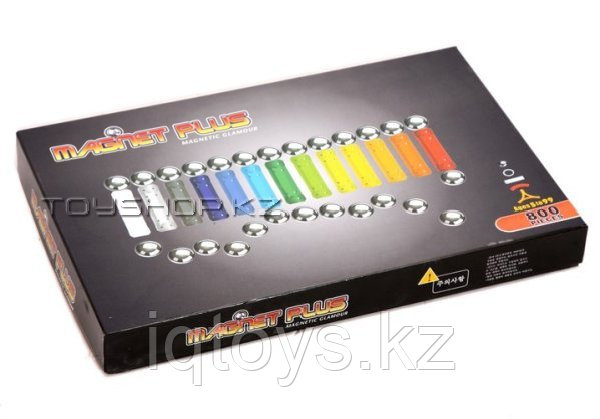 Магнитный конструктор 800 детали