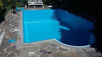 Наши работы по облицовке  бетонных и металлических чаш бассейнов ПВХ лайнером 3