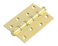 Дверная петля латунная универсальная с 4 подшипниками Morelli MBU 100X70X3-4BB PG (цвет: золото), фото 1