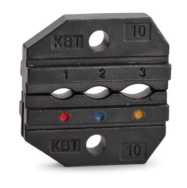 Матрицы для обжима наконечников и разъемов в термоусаживаемой изоляции и заглушек КИЗ МПК-10 ™КВТ