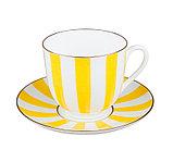 Чашка с блюдцем кофейная Да и Нет. Императорский фарфор, фото 2