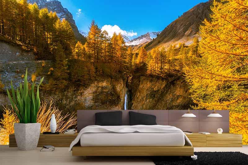 Фотообои Французские Альпы, водопад