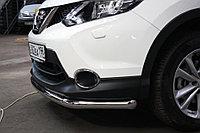 Nissan Qashqai 2014- Защита передняя (ОВАЛ) D 75х42 , фото 1