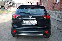 Mazda CX-5 Защита задняя (ОВАЛ) D 75х42, фото 1