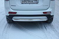 Mitsubishi Outlander 2014- Защита задняя (ОВАЛ) D 75х42, фото 1