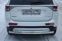 Mitsubishi Outlander 2014- Защита задняя двойная D 60,3/42,4, фото 1