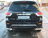 Nissan Pathfinder 2014- Защита задняя уголки D 76,1, фото 1