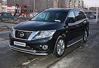 Nissan Pathfinder 2014- Пороги труба D 60,3, фото 1