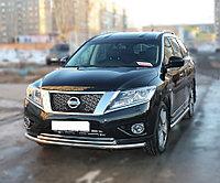 Nissan Pathfinder 2014- Пороги с площадкой D 60,3, фото 1