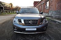 Nissan Patrol 2014- Защита передняя (ОВАЛ) D 75х42