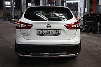 Nissan Qashqai 2014- Защита задняя двойная D 60,3х42,4, фото 1