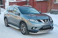 Nissan X-Trail 2015- Защита передняя большая двойная D 60,3/42,4, фото 1