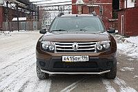 Renault Duster 2012- Защита передняя (ОВАЛ) D 75х42, фото 1