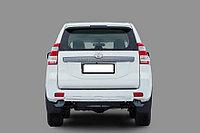 Toyota LC 150 2014- Защита задняя короткая (ОВАЛ) D 75х42 , фото 1