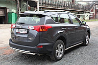 Toyota RAV-4 2013- Защита задняя двойная D 60,3х42,4, фото 1