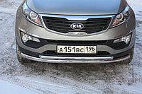 Защита переднего бампера KIA Sportage 2010-2015 двойная D 60.3х42.4, фото 1
