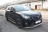 Защита переднего бампера Mazda CX-5 двойная D 60,3/42,4, фото 1