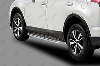 Пороги стальные с площадкой Toyota Rav-4 2015- D 60,3, фото 1