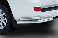 Защита заднего бампера Toyota LC 200 2012-2015, 2015- уголки двойные D 76.1х50.8, фото 1