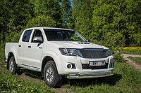 Защита переднего бампера Toyota Hilux 2012-2015 двойная (Круг+Овал) , фото 1