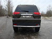 Защита заднего бампера Mitsubishi Pajero Sport 2014- (Овал) D 75х42, фото 1
