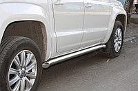 Пороги стальные Mitsubishi Pajero Sport 2014- труба D 76,1
