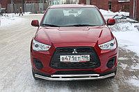 Защита переднего бампера Mitsubishi ASX 2013- двойная D 60,3/42,4, фото 1