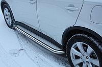 Пороги стальные с площадкой Mitsubishi L-200 2015- D 60,3, фото 1