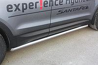 Пороги стальные Hyundai Santa Fe 2012- труба D 60,3, фото 1