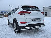 Защита заднего бампера двойная Hyundai Tucson 2015- D 60,3/42,4, фото 1