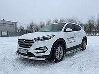 Защита переднего бампера Hyundai Tucson 2015- Овал D 75х42, фото 1