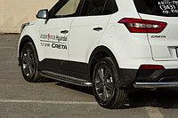 Hyundai Creta 2016- Пороги с площадкой D 60.3, фото 1