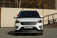 Hyundai Creta 2016- Защита передняя (Овал) D 75x42, фото 1