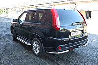 Защита заднего бампера Nissan X-Trail 2011-2014 уголок D 60,3, фото 1
