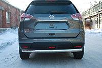 Защита заднего бампера Овал Nissan X-Trail 2015- D 75x42, фото 1