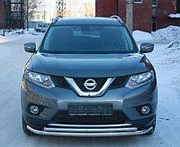 Защита переднего бампера двойная Nissan X-Trail 2015- D 60,3/42,4, фото 1