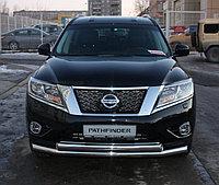 Защита переднего бампера Nissan Pathfinder 2014- двойная D 60,3/42,4, фото 1