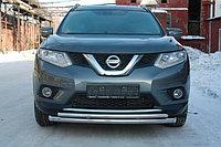 Защита переднего бампера большая двойная Nissan X-Trail 2015- D 60,3/42,4, фото 1