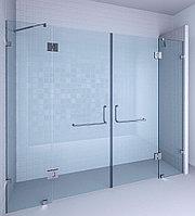 Стеклянная безопасная перегородка и двери в душ. А8, фото 1